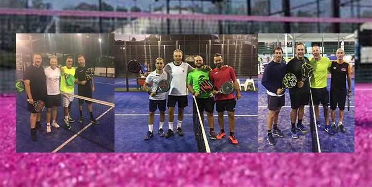 Diversi match svolto l'8 ottobre al Pink Padel
